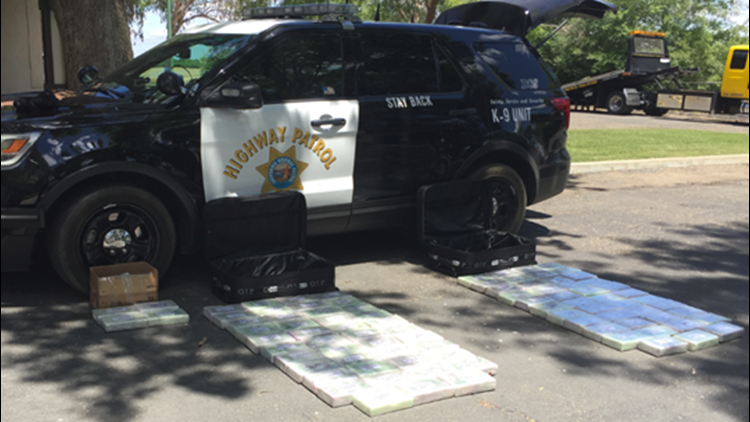 CHP K-9 helps in drug bust, $6 million worth of cocaine