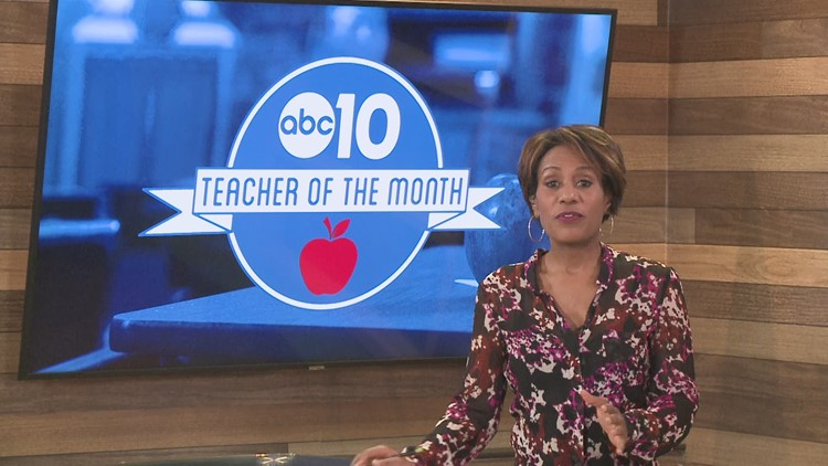 April 2021:  Christina Coppola is ABC 10's Teacher of the Month