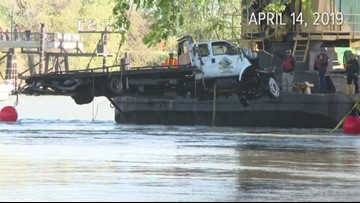 Tow truck, woman removed from Sacramento River 19 days after crash