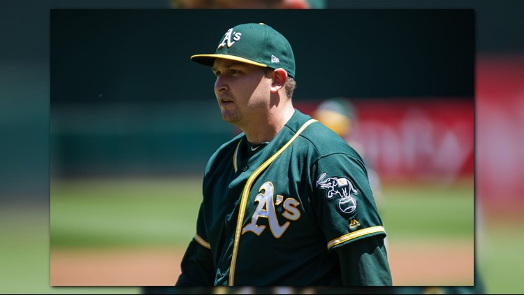 Trevor Cahill struck out 10 in six innings, Khris Davis and Matt Chapman both homered for the second consecutive game and the Oakland Athletics beat the Detroit Tigers 6-0 on Sunday to complete a season sweep.