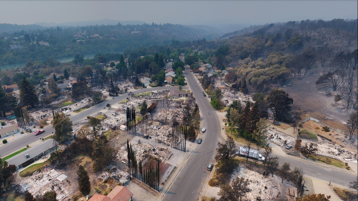 New Images Let You View Carr Fire Destruction From Above Abc10 Com