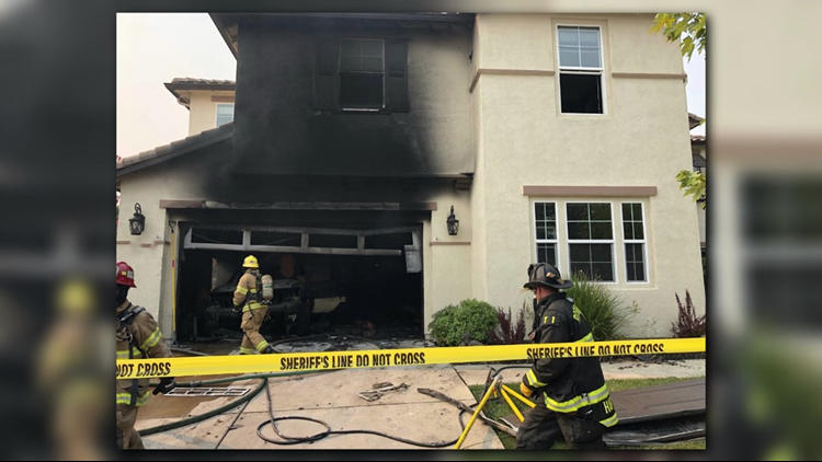 Neighbors reported hearing several explosions coming from the home before the fire started, according to the sheriff's department.