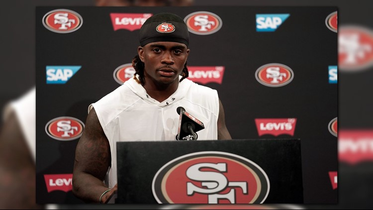 San Francisco 49ers running back Jerick McKinnon has left practice with an injured right knee.