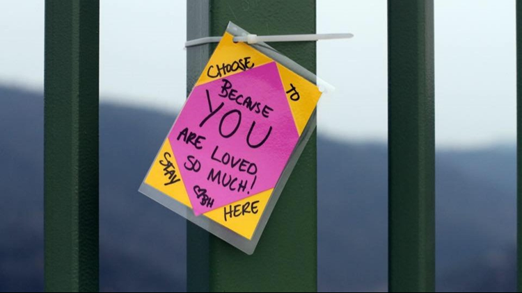 Encouraging message on Foresthill Bridge