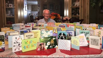 85 birthday cards from 85 zip codes for Orangevale man's 85th bithday
