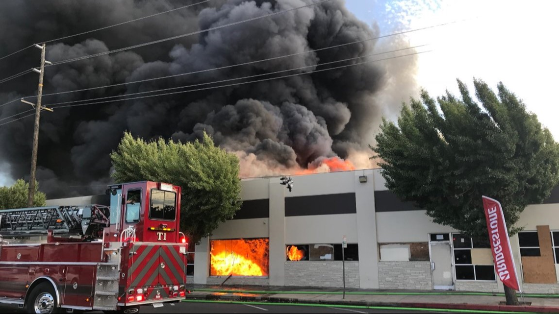 Oakland Gas Prices >> Fire destroys 2 buildings in downtown Modesto | abc10.com