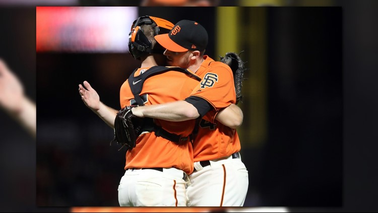 The San Francisco Giants snapped an 11-game losing streak by beating the Colorado Rockies 2-0 on Friday night.