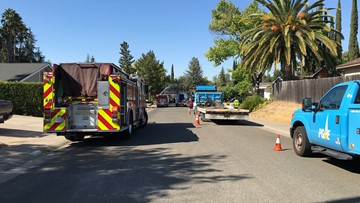 Gas line ruptures in Citrus Heights