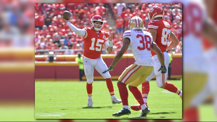 3e826adb772 Mahomes throws 3 TD passes as Chiefs beat 49ers, 38-27. Patrick Mahomes  responded by torching San Francisco's ...