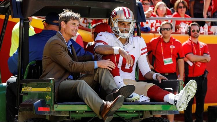 San Francisco 49ers quarterback Jimmy Garoppolo underwent reconstructive surgery on his injured left knee.