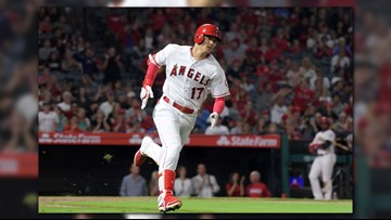 Trout slugs 39th HR, Ohtani 3 for 3 as Angels beat A's 8-5