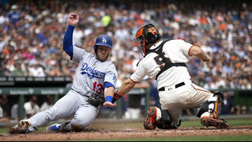 Dodgers clinch sixth straight playoff trip, beat Giants 10-6