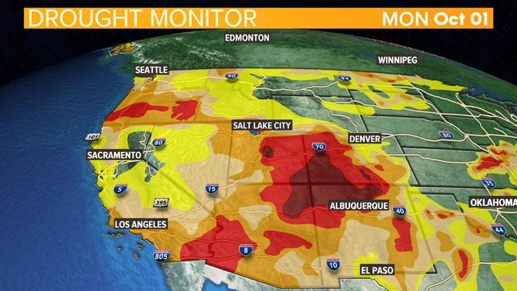 Drought conditions for the West