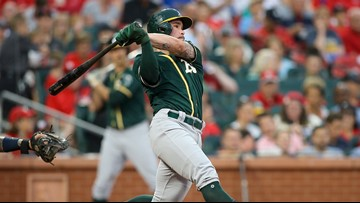 Taylor and Chapman back Mengden as A's beat Cardinals 2-0