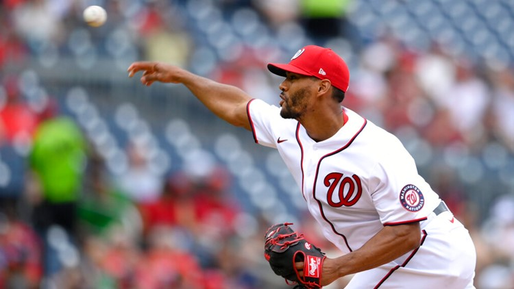 Schwarber hits 2 HRs, Ross dominant as Nats beat Giants 5-0