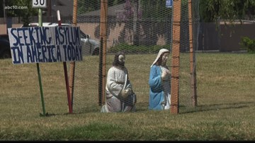 How a local church is using a nativity scene to demand reunification of migrant families