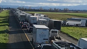 Big-rig crash closes I-5, MLS rally attendees should avoid the highway