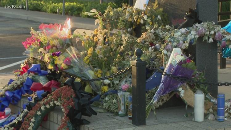 Stockton community mourns fallen police officer Jimmy Inn with memorial
