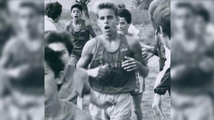 Kurt Hoffman when he was a teenager at Sacramento Jesuit High School.