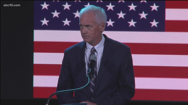 Rep. Tom McClintock pays tribute to Sgt. Nicole Gee at her memorial service