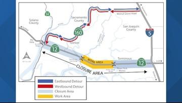 Overnight repairs scheduled on Highway 12 at Mokelumne River Bridge next week