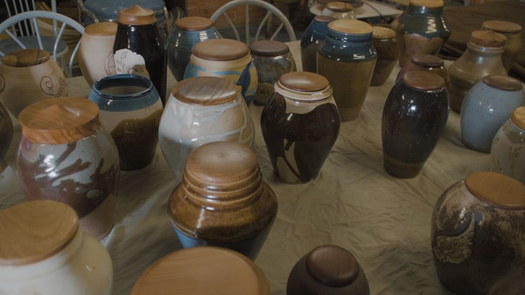 Urns for Camp Fire survivors and victims