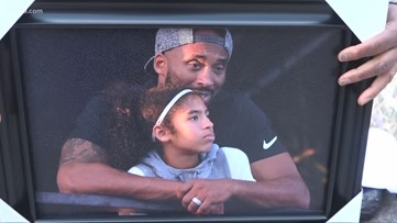 Fans celebrate the memory of Kobe and Gianna Bryant at memorial at Staples Center