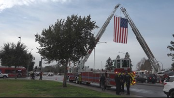 Law enforcement shows-up by the thousands to pay respects to Davis Officer Natalie Corona