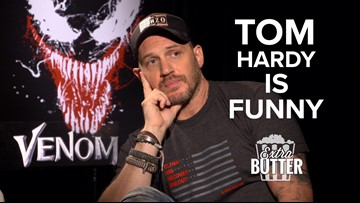 "Tom Hardy lets everyone know he ""is funny"" in awkward 'Venom' interview"