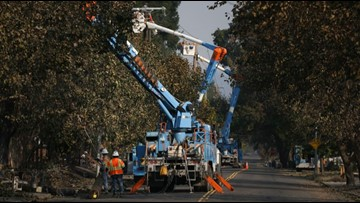 PG&E busy restoring power after wind cuts