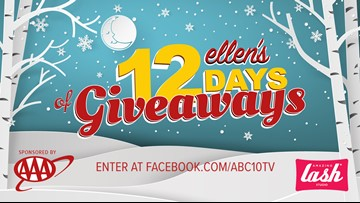 KXTV CELEBRATES ELLEN'S 12 DAYS OF GIVEAWAYS SWEEPSTAKES