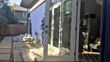 Container homes provide options for California housing ... on home designers, knitting designers, building designers, tiny houses on wheels,