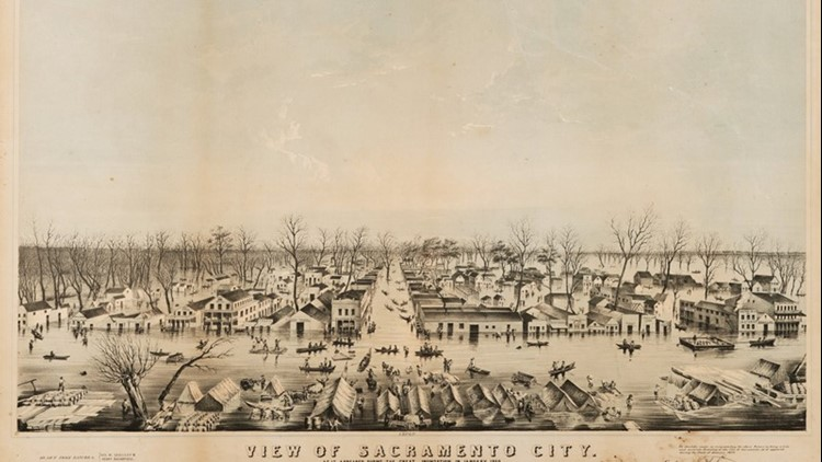 View of Sacramento during the flood
