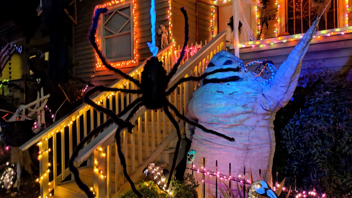 The Halloween House In Oak Park Is The Brainchild Of Aimee Phelps And Danell Eshnaur Who Create A Lavish Display Around Their Home