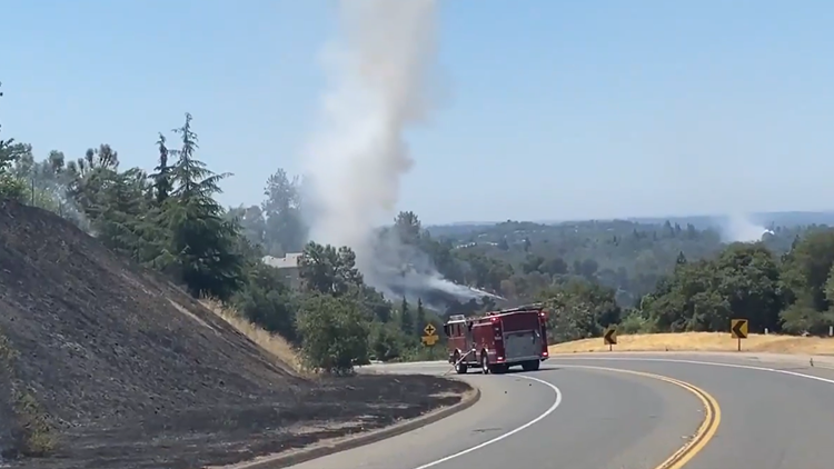 Crews contain fires along Auburn Folsom Road in Placer County