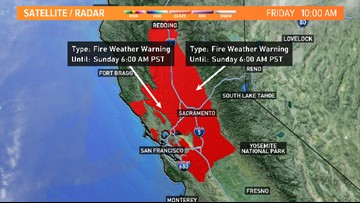 Fire conditions this weekend include Red Flag Warning