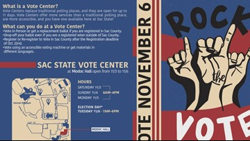 Sac State is the first California university to open a vote center on campus