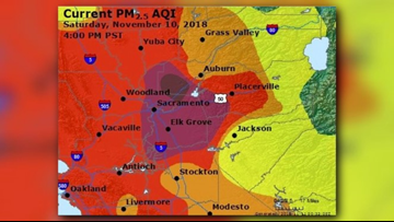 Hazardous air quality for parts of the Central Valley