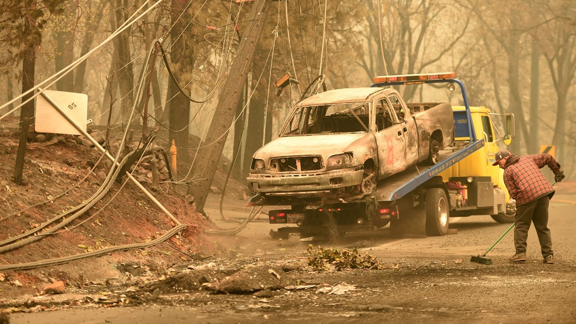 Road closures and fire maps in Chico and Butte County   Camp Fire