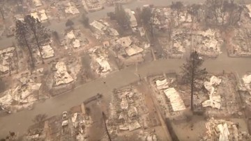 RAW VIDEO: Drone footage shows Paradise Camp Fire aftermath from above