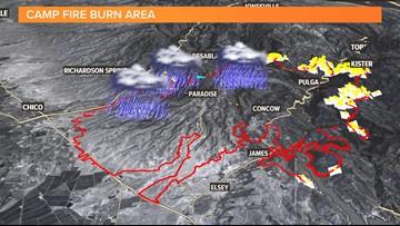 The recent Camp Fire burn areas brace for landslides and debris