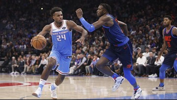 Hield helps Kings hold off Westbrook, Thunder 117-113