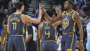 Durant scores season-best 44 points, Warriors hold off Kings