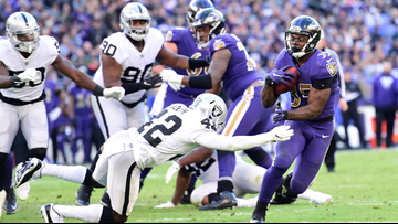 Jackson, Edwards and Ravens run over Raiders 34-17