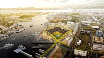 Oakland A's release renderings of new ballpark at Howard Terminal, redeveloped Oakland Coliseum