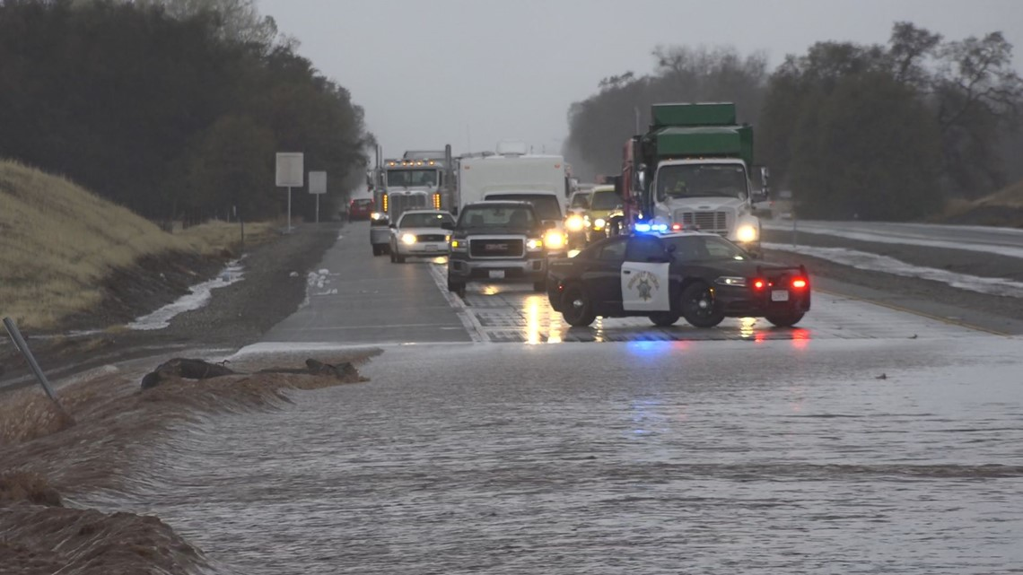 Flooding near Chico halts traffic on Highway 99, closures in effect