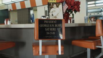 Latif's Restaurant in Turlock memorializes visit from President George H.W. Bush