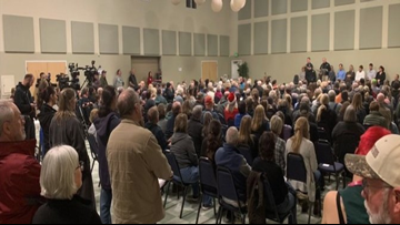 Camp Fire survivors pack community meeting wanting answers