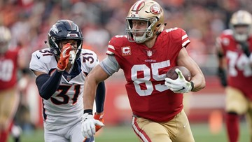 George Kittle's 85-yard touchdown reception helps lift 49ers