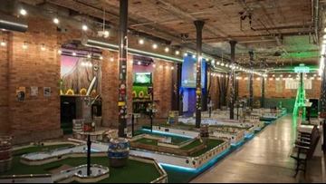 Flatstick Pub sets up with beer and mini-golf at DOCO